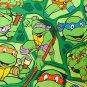 "42""wide 15""long Window Curtain Valance Teenage Mutant Ninja Turtles Green fabric"