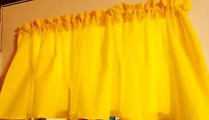 "52""wide 15""L Window Curtain Valance Bright Neon Sunshine Yellow Cotton fabric"