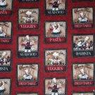 "Fat Chef Restaurant  HaNdMaDe Window Curtain Valance Cotton fabric 43""W x 15""L"