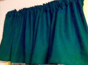 """52""""wide 15""""L Window Curtain Valance Solid Hunter Green Cotton fabric"""