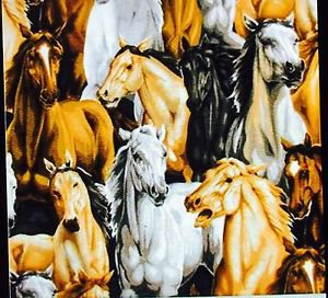 "43"" wide 15"" long Window Curtain Valance Horse Pony Cotton fabric"