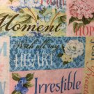 """Cute Inspirational Loving Thought Window Curtain Valance Cotton fabric 43""""Wx15""""L"""
