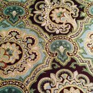 "Turquoise Teal Brow Gold Paisley 42""W 15""L Window Curtain Valance Cotton fabric"