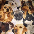 "Dog Shih tzu Yorkie Pug lab Window Curtain Valance Cotton fabric 43""W x 15""L"