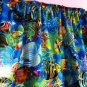 "Valance Topper Tropical Blue Sea Ocean Fish 43""W x 15""L Cotton  Fabric"