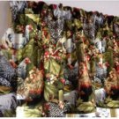 "Valance Kitche Window Curtain Valance Chicken Rooster Cotton fabric 42""W x 15""L"