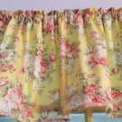 "Yellow Floral Rose Bedroom Bathroom Nursery Valance Curtain Cotton 43""W x 15""L"