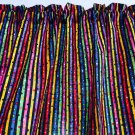 "Birthday Party Stripes Valance HaNdMaDe Window Topper Cotton fabric 43""W x 15""L"