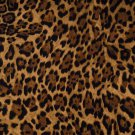 "Brown Black Leopard Spots 42""W 15""L Curtain Valance Cotton fabric"
