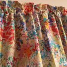 "Paint Brush Colors Valance HaNdMaDe Window Topper Cotton fabric 43""W x 15""L"