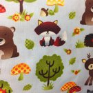 "Nursery Valance Baby Fox Deer HaNdMaDe Window Topper Cotton fabric 43""W x 15""L"