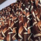 "Football Sports Game Cotton fabric 43""W 15""L Window Curtain Valance Topper"