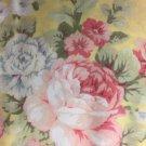 "Valance Topper Yellow Shabby Chic Rose HaNdMaDe Window Cotton fabric 43""W x 15""L"