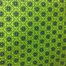 "Retro Lime Green Print Valance HaNdMaDe Window Topper Cotton fabric 43""W x 15""L"