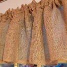 Potato Bag Burlap Khaki  Window Curtain Valance Solid Tan Burlap fabric