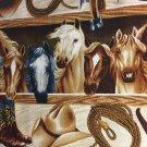 "Cowboy Horse Saddle Valance Window Curtain Valance Cotton fabric 43""W x 15""L"