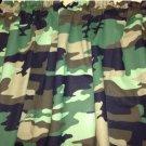 "Camo 43"" wide 15"" long Window Curtain Valance Black Green Camouflage fabric"