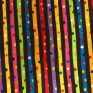 """Party Time Color Stripes Valance HaNdMaDe Window Cotton fabric 43""""W x 15""""L"""