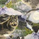 "Grey Wolf HaNdMaDe Window Valance Topper Cotton fabric 43""W x 15""L"