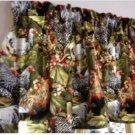 "Farmhouse Style  Kitchen Window Curtain Valance Chicken Rooster 42""W x 15""L"