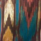 "Brown Blue Tan Southwestern Window Curtain Valance  Cotton fabric 42""W x 15""L"