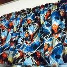 "Blue Boys Curtain Valance Spiderman 42"" wide 15"" long Window"