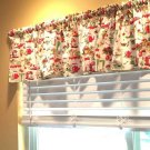"Vintage Retro Dishes Curtain Valance Window Topper Cotton fabric 43""W x 15""L"