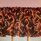 "Fall Autumn Football Game Sports  43""W 15""L Window Curtain Valance Cotton"