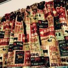 "Fall Autumn BBQ Pit Barbecue 43""W 15""L Window Curtain Valance Cotton"