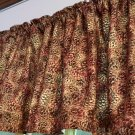 "Holiday Pinecones  HaNdMaDe Window Curtain Valance Cotton fabric 43""W x 15""L"