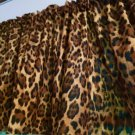 "Leopard Print Valance Some Custom Made Work Cotton fabric 43""W x 15""L"