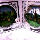 FARM & TRACTOR Glass Fiber Optic Tractor Clocks Set of Two - 66-3921