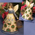 JIM SHORE Stone Resin Jim Shore Angel with Birdcage Heartwood Creek RETIRED - 99-105168