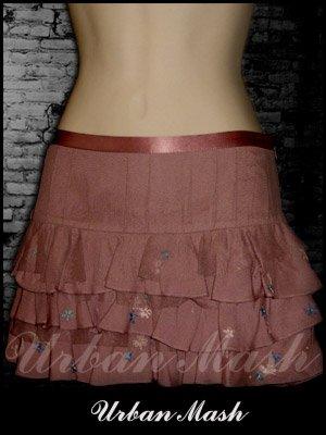 HOLLISTER Embellished Ruffled Mini Skirt - Size 0 - S0M0001