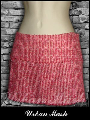 Abercrombie & Fitch Silk Lined Boucle Mini Skirt - size 2 - S2PK0006