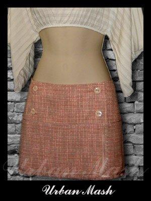Abercrombie & Fitch Silk Lined Wrap Around Mini Skirt - size 6 - S6SPK0002
