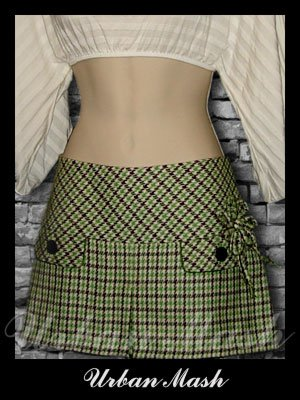Abercrombie & Fitch Silk Lined Mini Skirt - size 6 - S6G0003