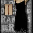 EXQUZ Black Cocktail Dress with Decorative Straps - size medium - DMBK0003