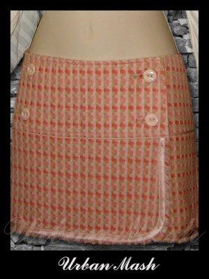 Abercrombie & Fitch Silk Lined Wrap Around Mini Skirt - size 6 - S6PK0002