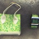 Quartz Green Watch With Matching Case