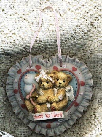 Enesco Cherished Teddies Heart To Heart Plaque