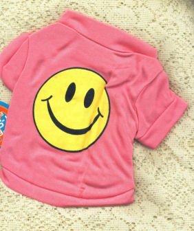 Dog Shirt Smiley Face retro Style Dog Shirt T Shirt Size XS