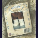 Tender Hearts Teddy Bear Doll Shoes White Strap Shouse Lace Socks