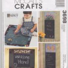 Chalkboard Wallhangings and Playmat Pattern McCalls 3698
