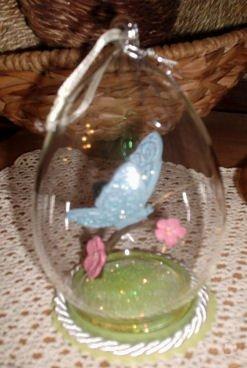 Butterfly Globe Ornament Display Year Round CBK Decor