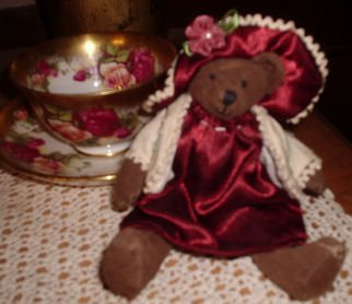 Delton Shabby Victorian Miniature Teddy Bear Jointed