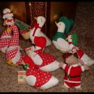 Goose Ornaments Year Round Lot of 7 Country Primitive