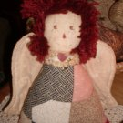 Country Primitive Quilted Grunge Raggedy Angel Doll