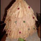Straw Tabletop Christmas Tree Hawaiian Ocean Midwest