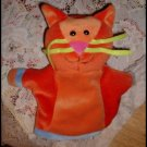 """8"""" Geppetto Pappa Multicolored Cat Hand Puppet"""